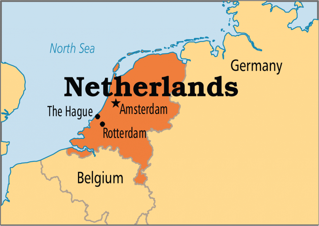 The Netherlands Map Where Is The Netherlands 1024x725 Olandijos